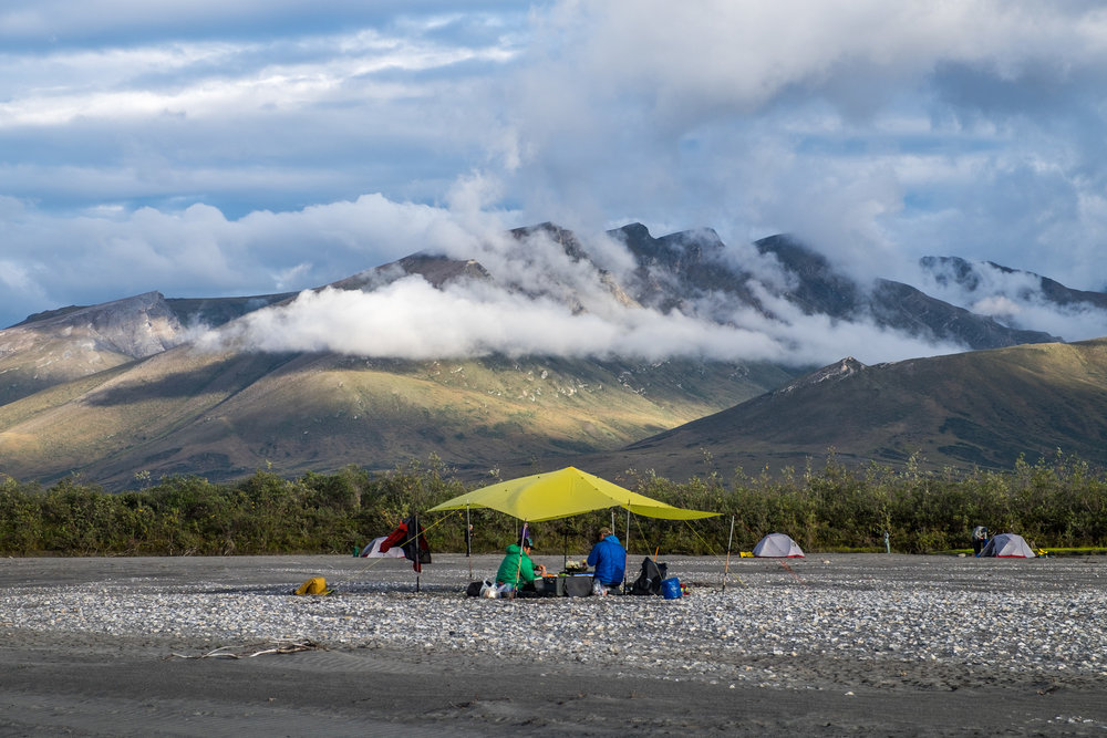 The shores along the river make for great camping.