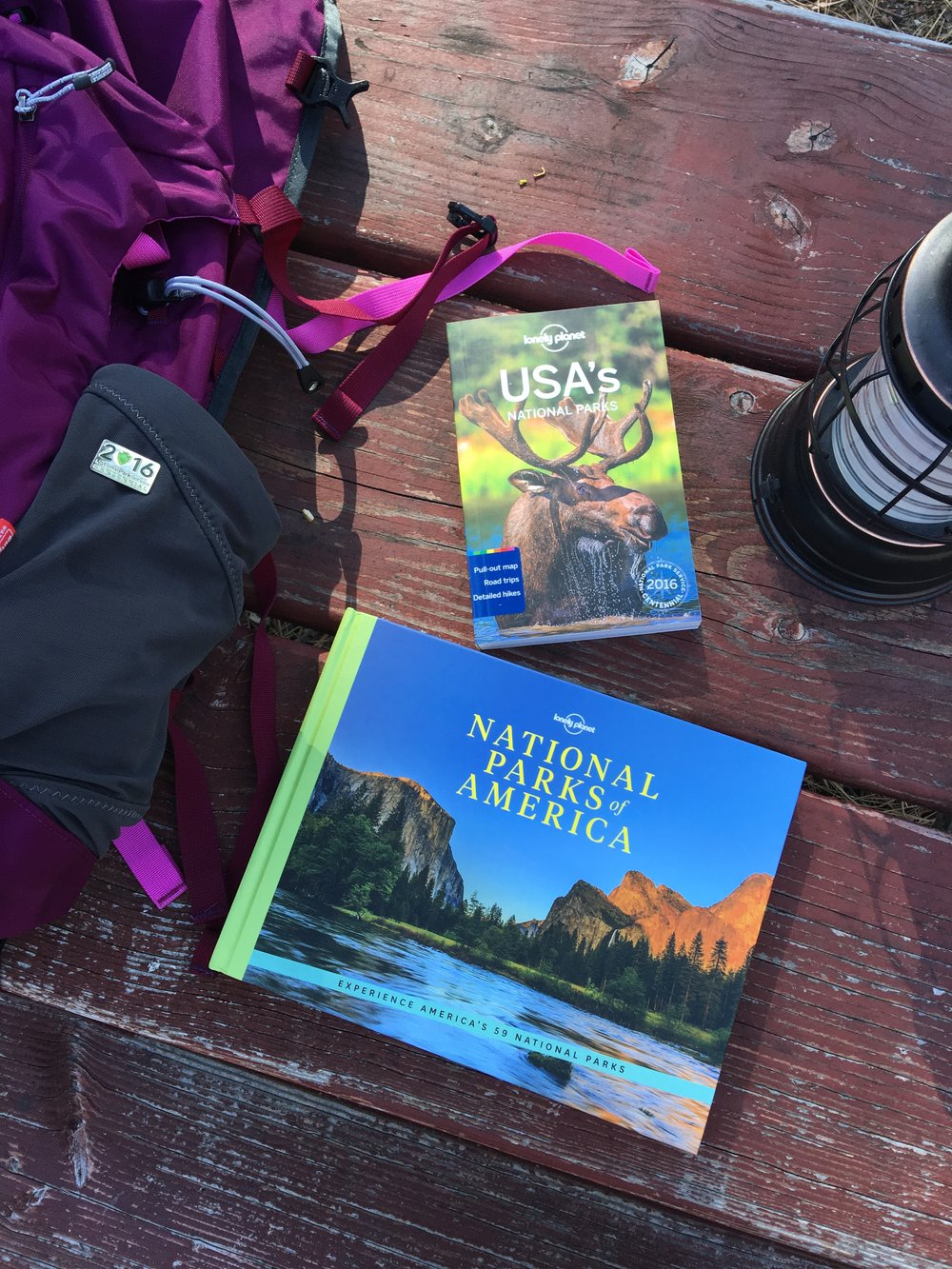 The Lonely Planet National Park guide has helped us plan throughout the year. Any adventure book is a terrific thing to receive!