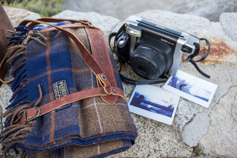 Hitting sunset with a National Park themed Pendleton blanket!