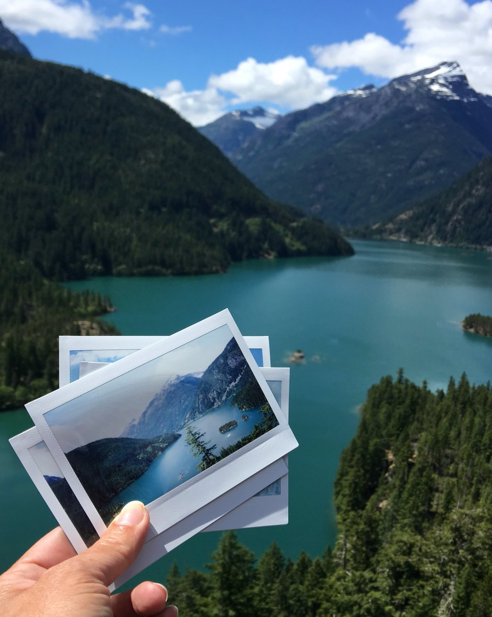 Snapshots of Diablo Lake in North Cascades National Park in Washington state. Photo credit: Stefanie Payne