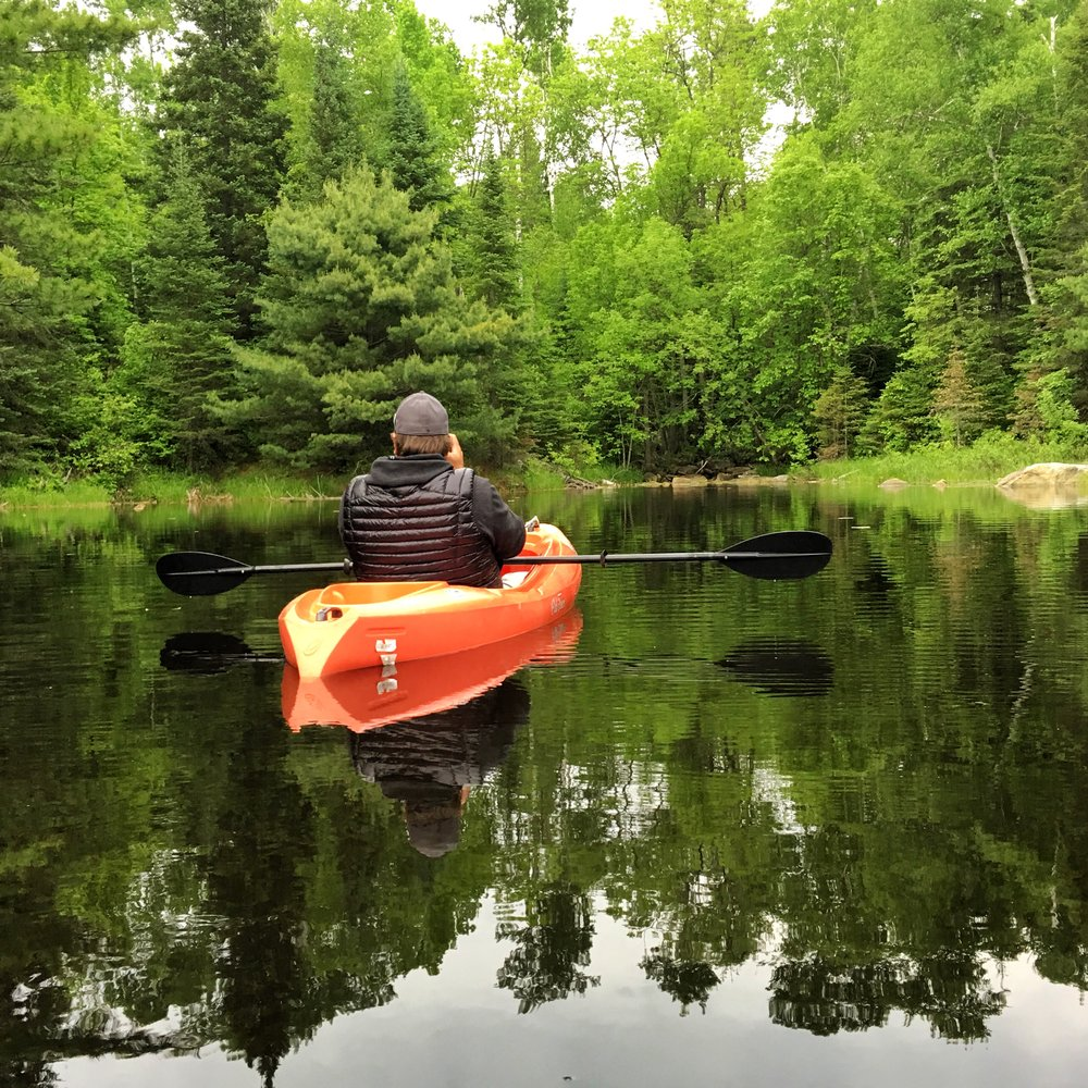 Paddling in the still waters of Voyageurs National Park in Minnesota. Photo credit: Stefanie Payne