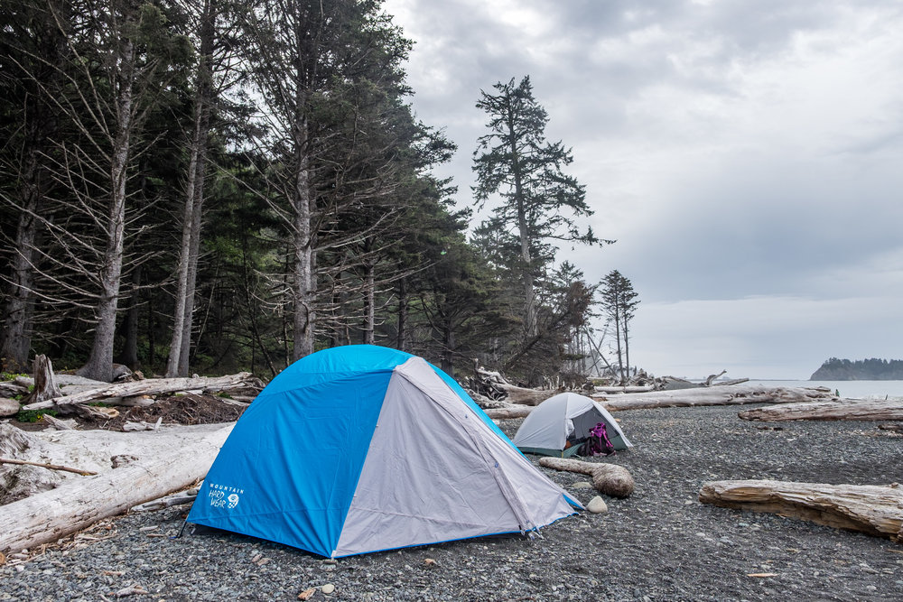 Our beachside camping spot.
