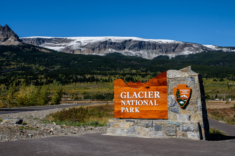 One of the entrances to Glacier National Park.