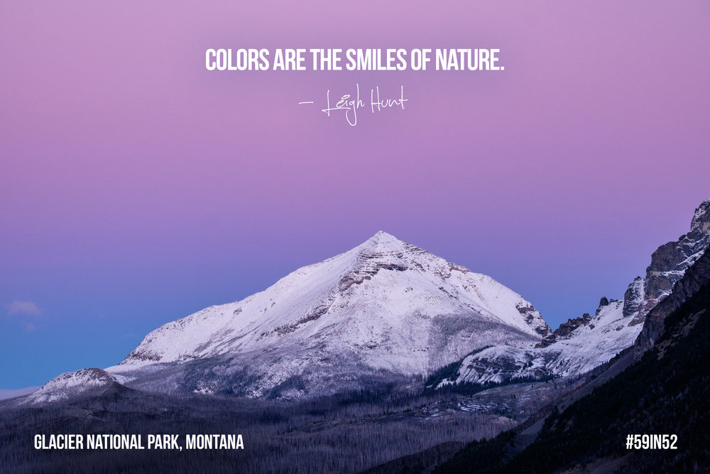 'Colors are the smiles of nature.'