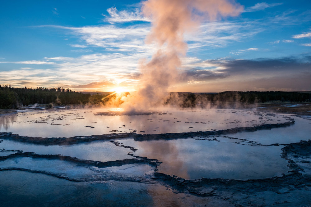 This geyser is without a doubt my favorite spot for watching (and photographing) sunset.