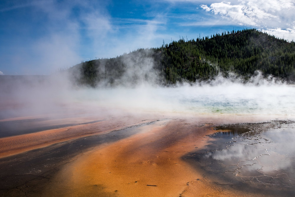 Grand Prismatic Spring is the largest hot spring in North America and the third largest in the world.