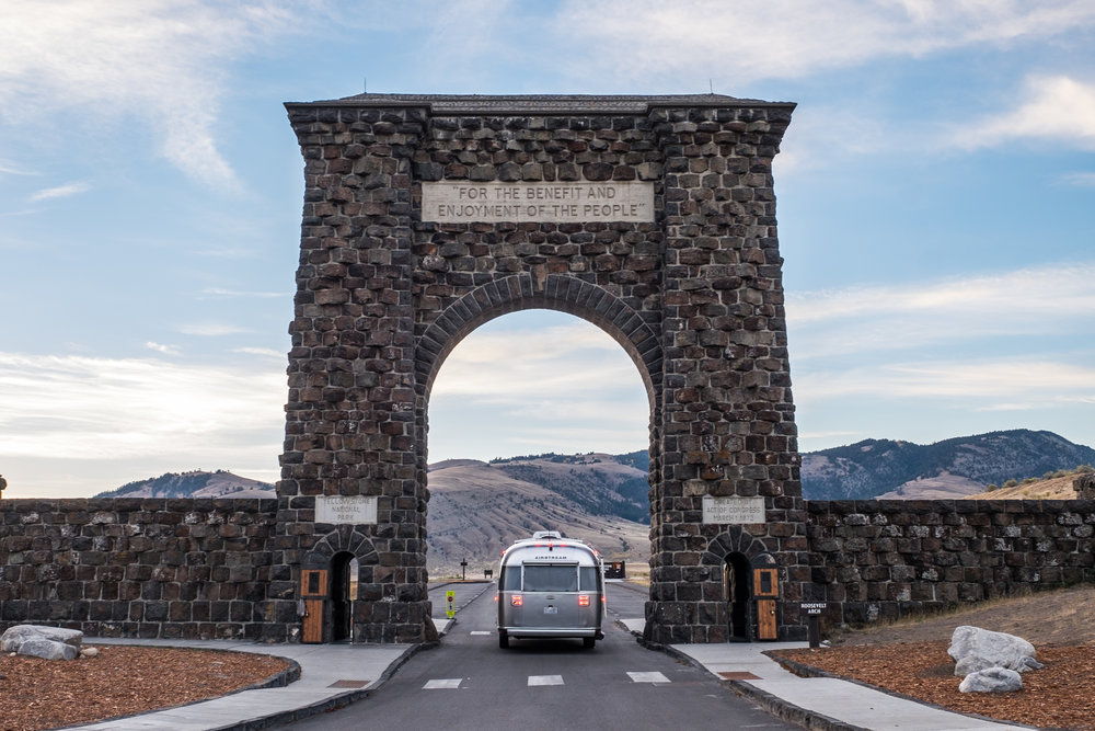 The original entrance in Yellowstone National Park.