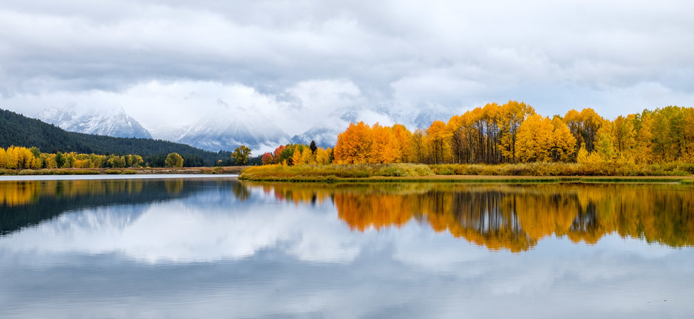 We stopped  by the famous Oxbow Bend to scout out the place for a sunrise shoot. The fall colors were peaking!