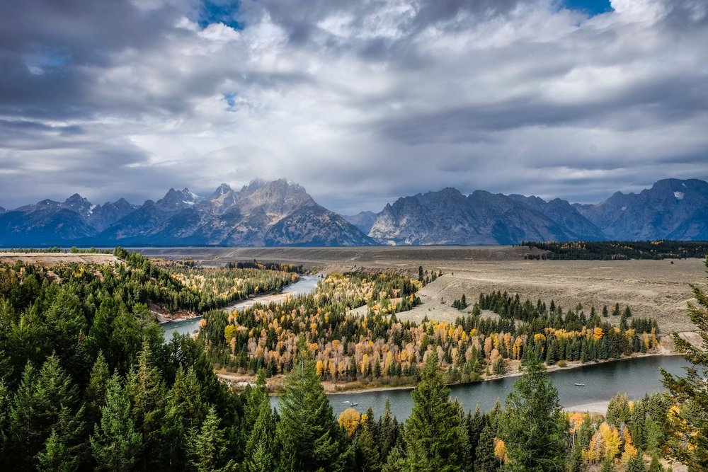 The famous Snake River Overlook, made infamous by Ansel Adams.