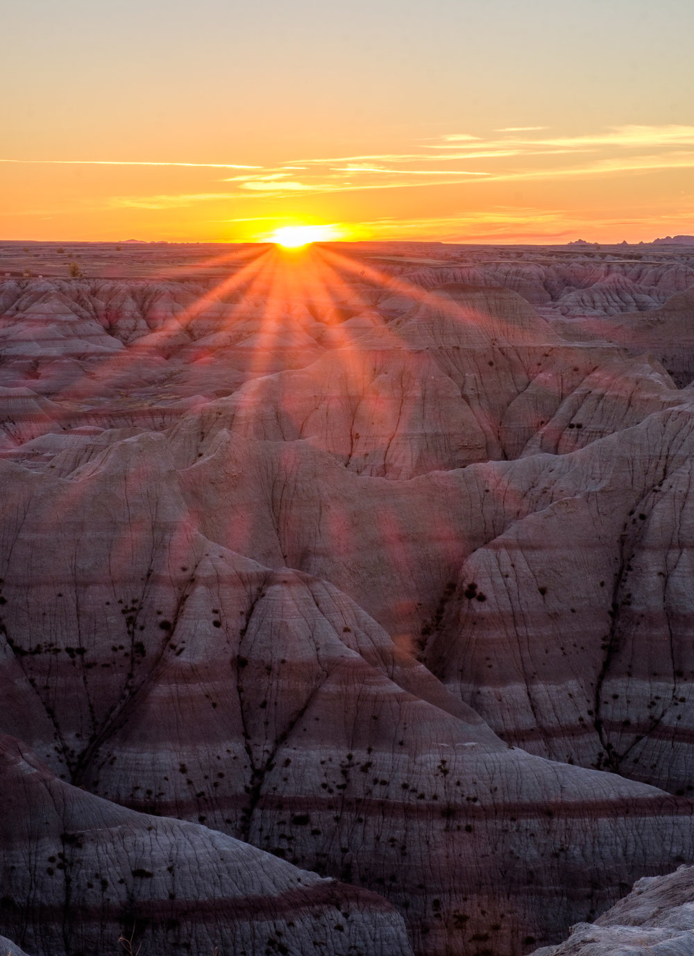 Our first Badlands sunset.
