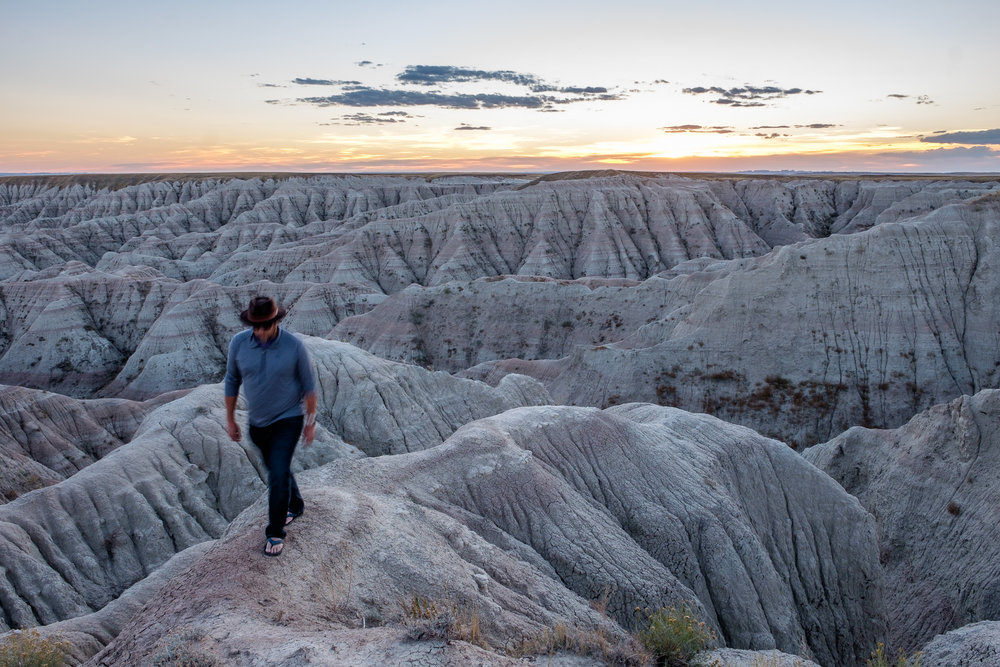 I loved walking out onto the Badlands, especially at sunset.