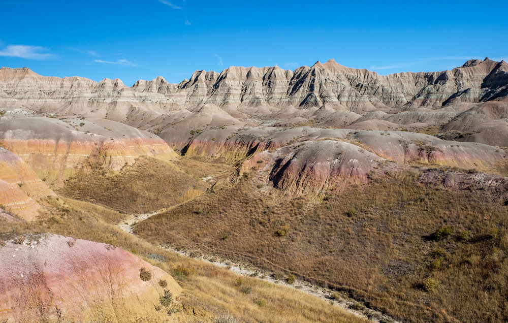Beuatiful views along the Badlands Loop Road.