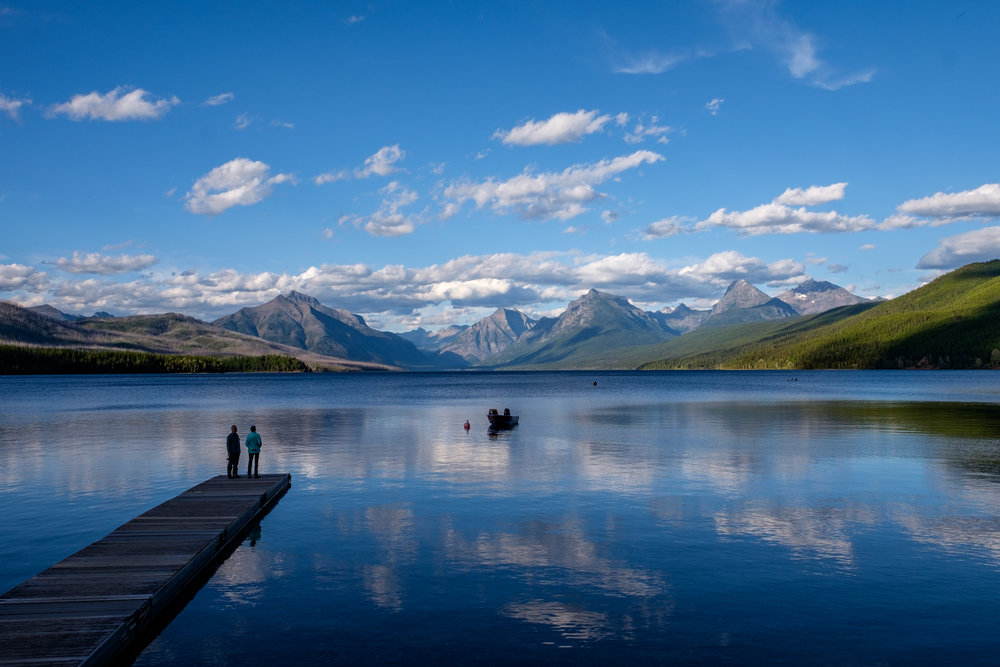 Among the most peaceful settings in the national parks, Lake McDonald in Glacier NP, Montana.   Shot with FUJIFILM X-T1.