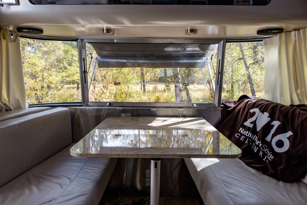 A look inside of Wally the Airstream.