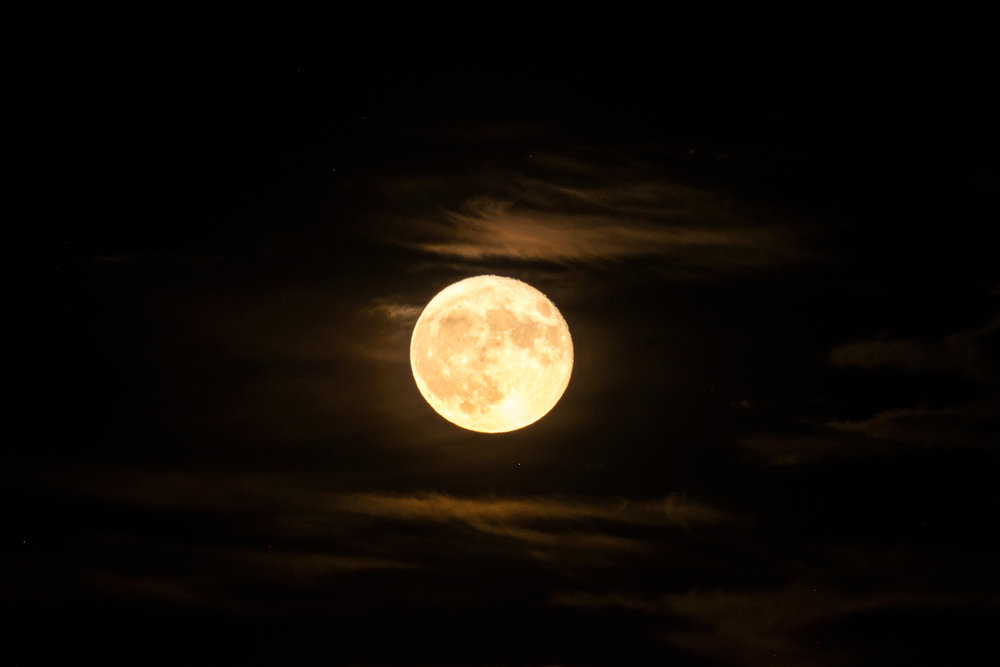 One of the Supermoons we saw on our trip happened at Wind Cave National Park.
