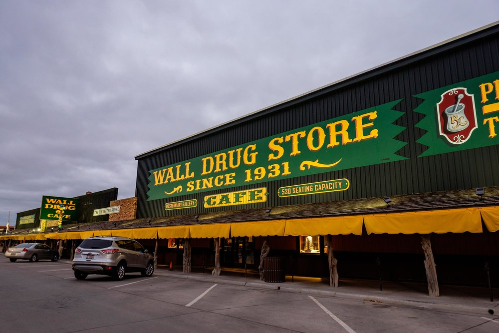 Wall Drug in South Dakota.