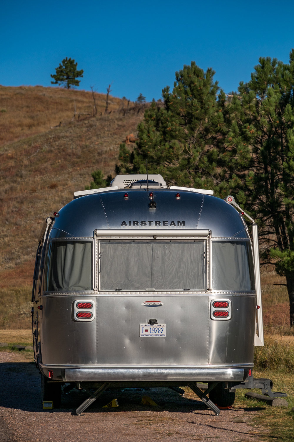 Wally the Airstream in Wind Cave National Park in South Dakota.