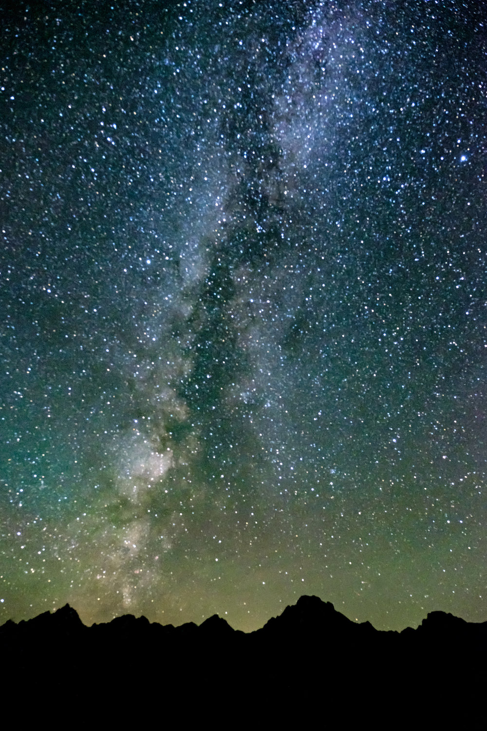 The Milky Way Galaxy in Grand Tetons National Park in Wyoming.