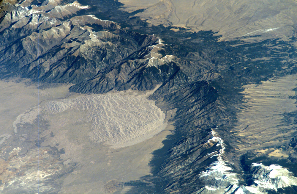 Great Sand Dunes National Park and Preserve as seen from the International Space Station. Credit: NASA