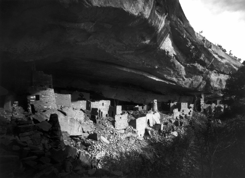 Cliff Palace in 1891, photo by Gustaf Nordenskiöld.