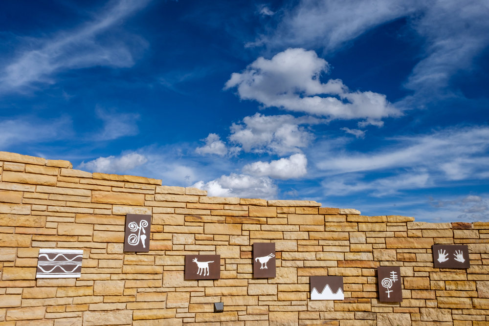 Puebloan art at the Visitor and Research Center.