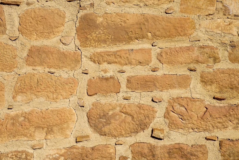 Detail of construction of the bricks and mortar of the Far View Sites.