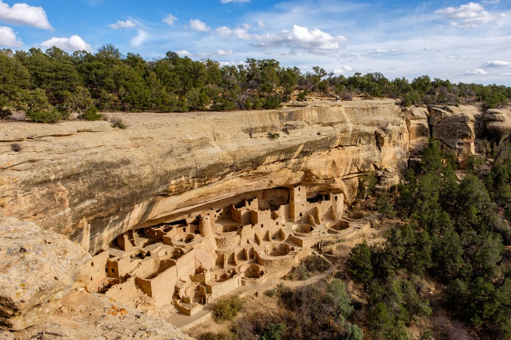 The highlight of any visit to Mesa Verde is without a doubt a visit to the incredible Cliff Palace ruin (seen from the overlook.)