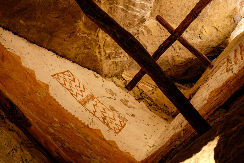 A view of Puebloan design preserved inside the tower.