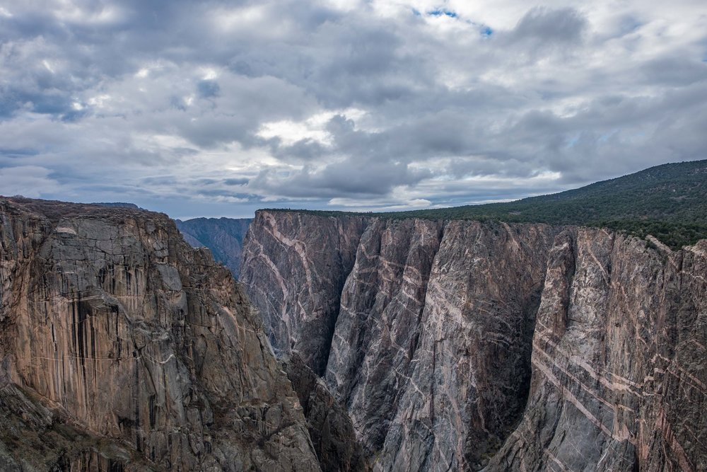 One of the first overlooks you come to on the north side of Black Canyon of the Gunnison NP is this view, The Narrows View.