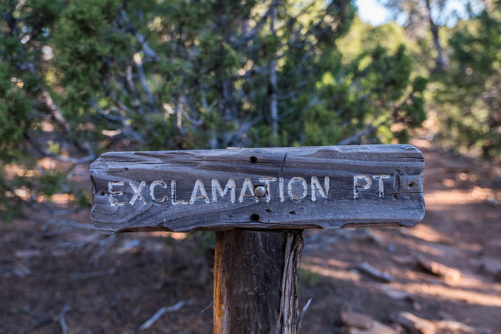 In search of epic views at Exclamation Point.