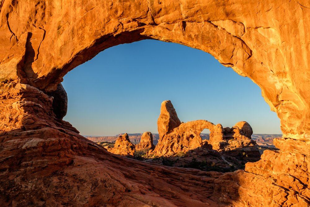 Turet Arch as seen through the North Window.