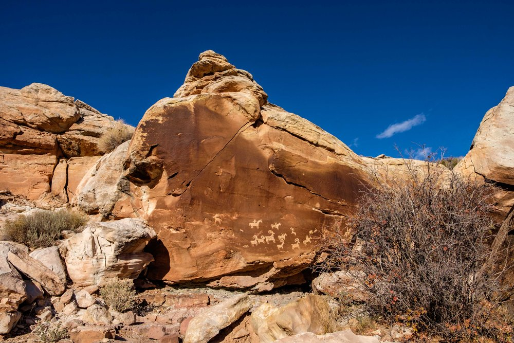 Wolfe Ranch is the first stop along the trail to the Upper Delicate Arch viewpoint. It is also the home to some beautiful petroglyphs.