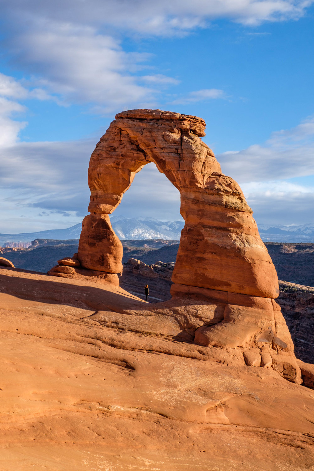 One of the best viewpoints in the entire park system: Delicate Arch.