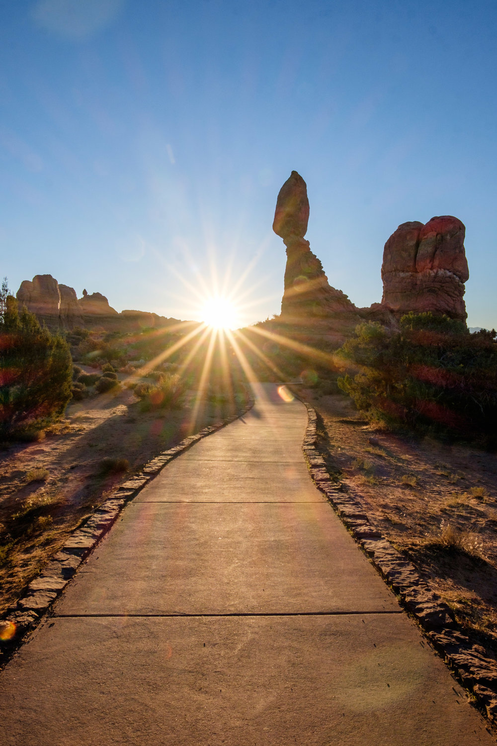 There are some really nice hikes around Balanced rock, especially in the early morning sun.