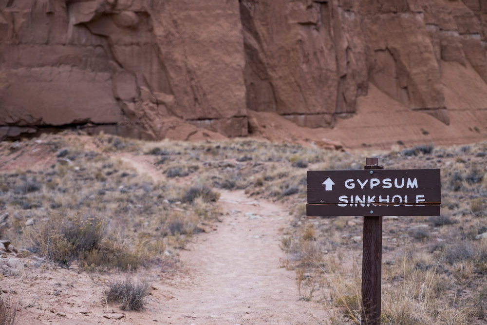 While we waited for sunset we made a stop at this Gypsum Sinkhole nearby.