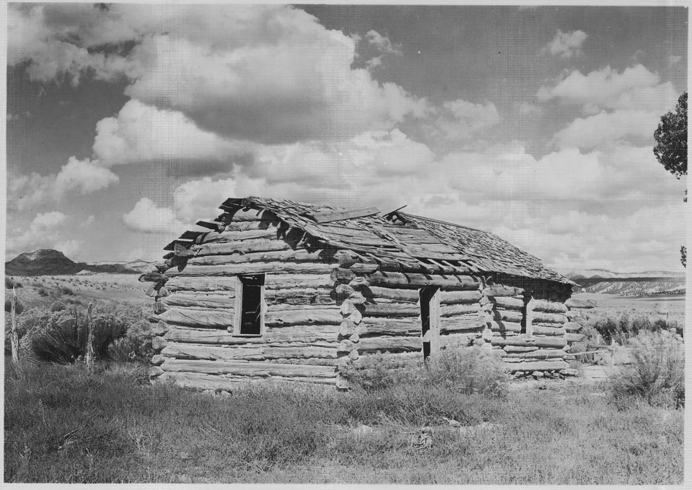 Early home of Ebenezer Bryce. | Credit: George A. Grant/Department of the Interior/National Park Service. circa 1929