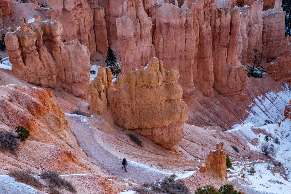 Bryce sits up high in elevation, and in November it can be quite cold!