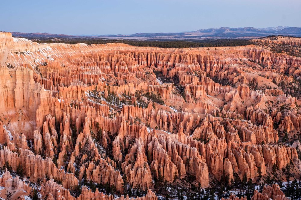 Sunrise is a great time to be at the canyon, and Bryce Point has one of the best views!