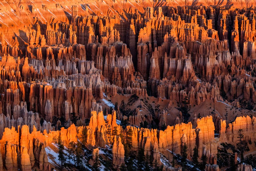 The world slowly awakens for a new day in beautiful Bryce Canyon.
