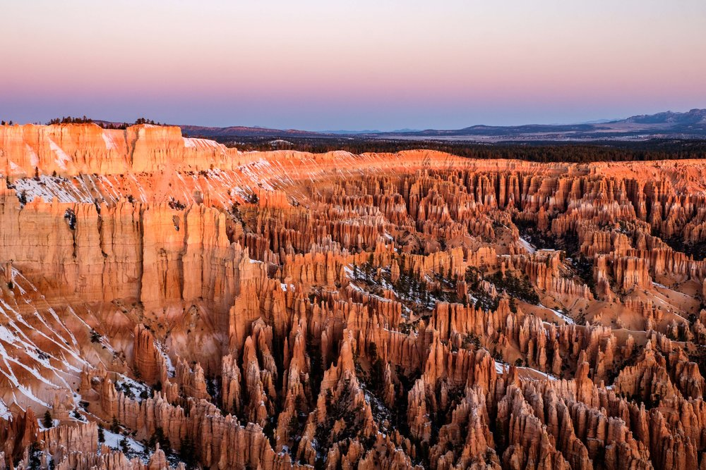 Sunrise perfection seen at Bryce Point.