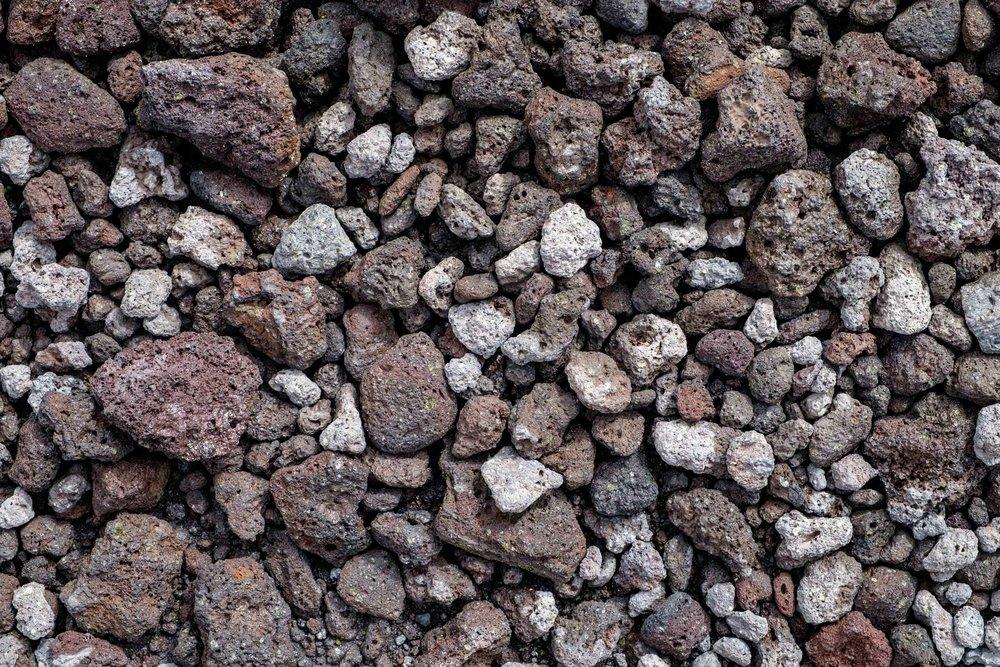 Lava rock textures.