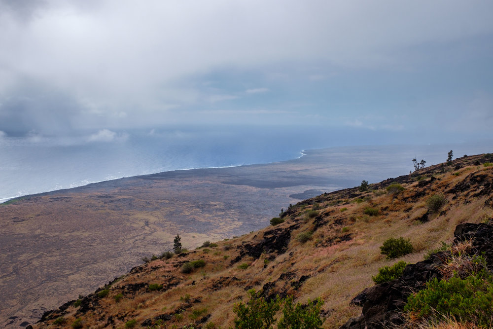 The Hilina Pali Overlook is a cool area to explore that is away from the crowds. Check out that view!