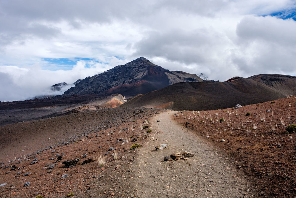 Otherworldly landscapes to explore as you venture into the inner crater at   Haleakala.