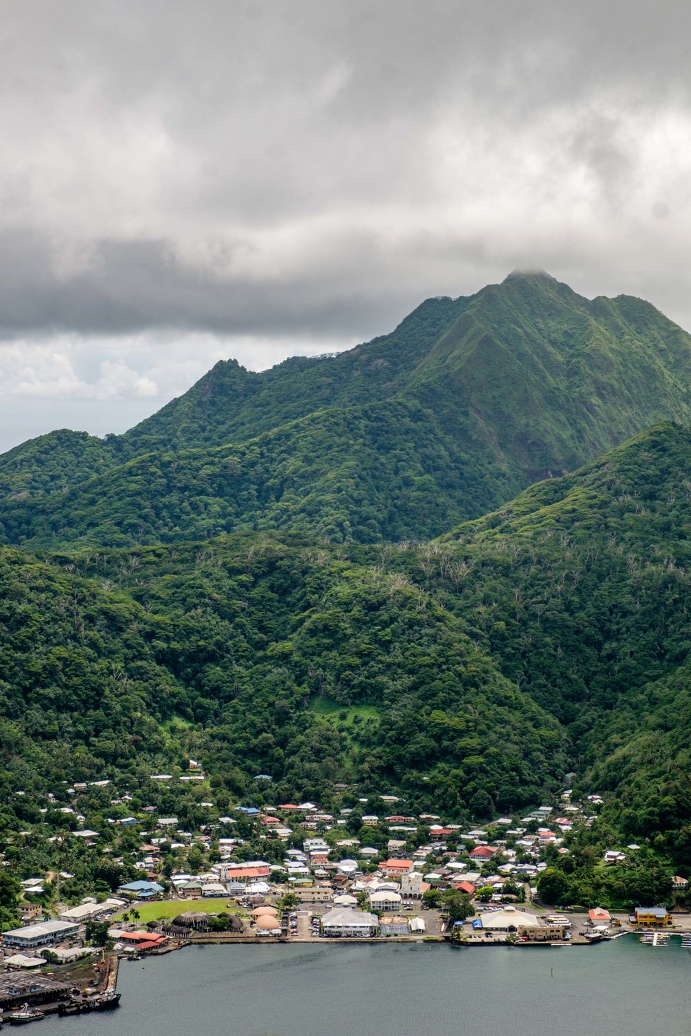 Getting high into the mountains on Tutuila allows you to see Pago Pago in an enitrely new way.
