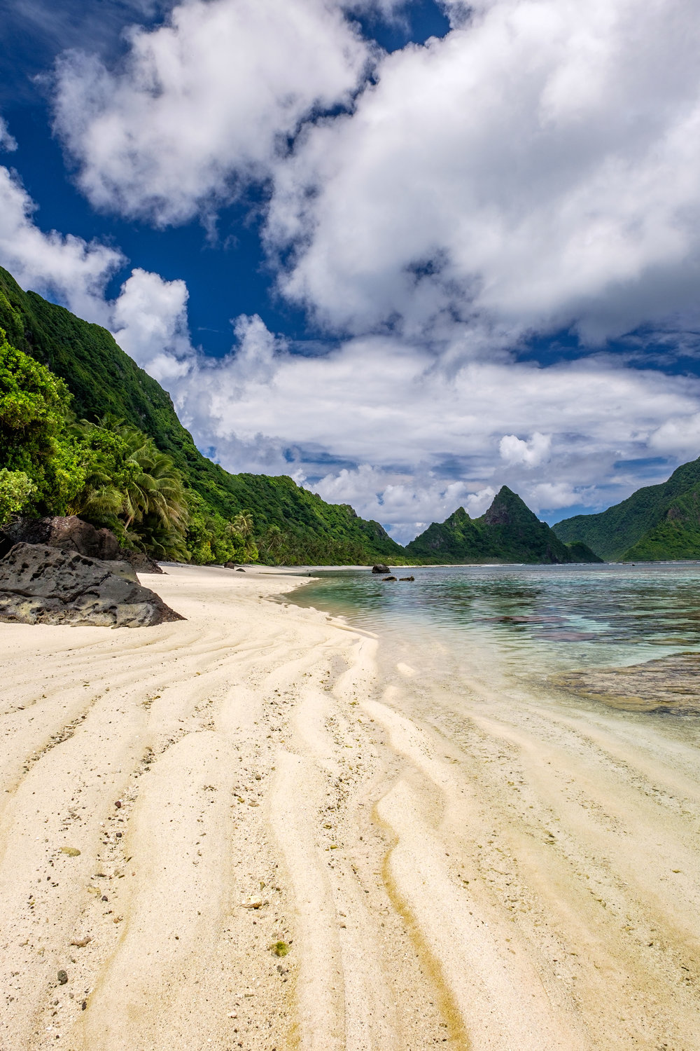Protection by the National Park Service makes for unspoiled beaches in American Samoa.