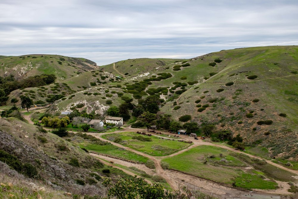 Time for a hike on the island! This is the Scorpion Ranch.