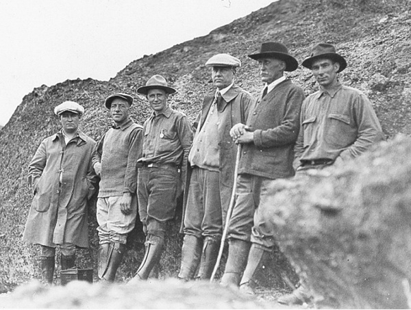 With each visit to one of our  59 national parks , we always remembered that there were many early footsteps before ours...  Pictured here:  Schyler Hain, second from the right, stands with Park Service Director Stephen Mather and the Pinnacles Boys in 1924. Image credit:  National Park Service