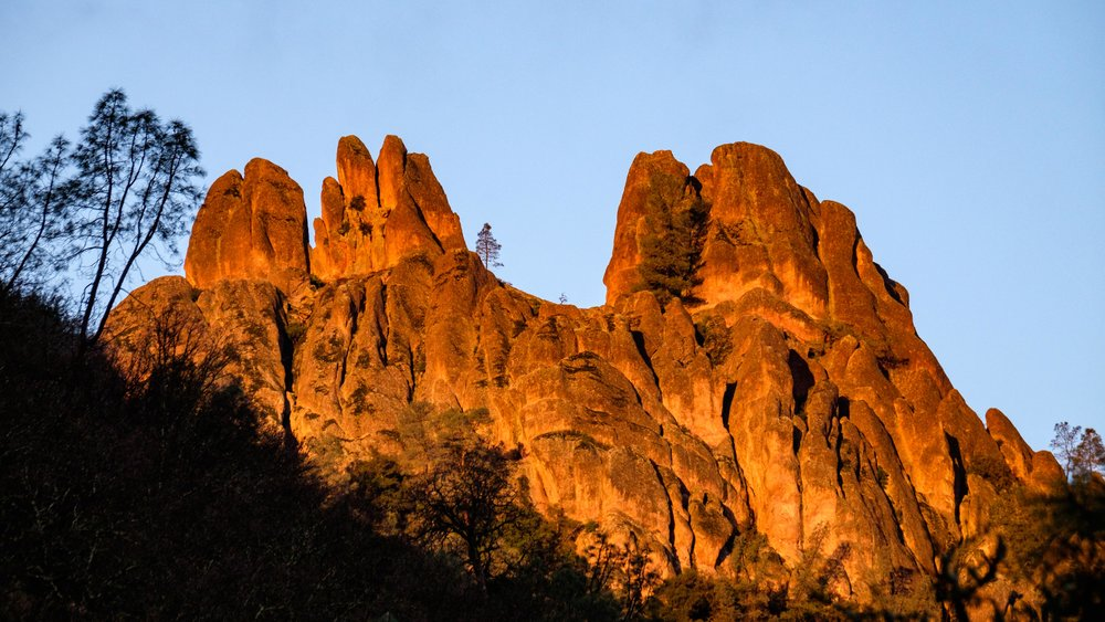 Geologists estimate that the pinnacles formations move at a rate of about 2-miles per year.