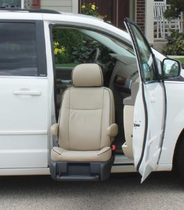 Valet™ Limited            This seat is the premium product for select vehicles. It provides easy access to an automotive seat.        The seat power rotates, travels fully out of the vehicle, and lowers toward the ground.   It automatically reclines to provide extra head clearance as it comes in / out of the vehicle !