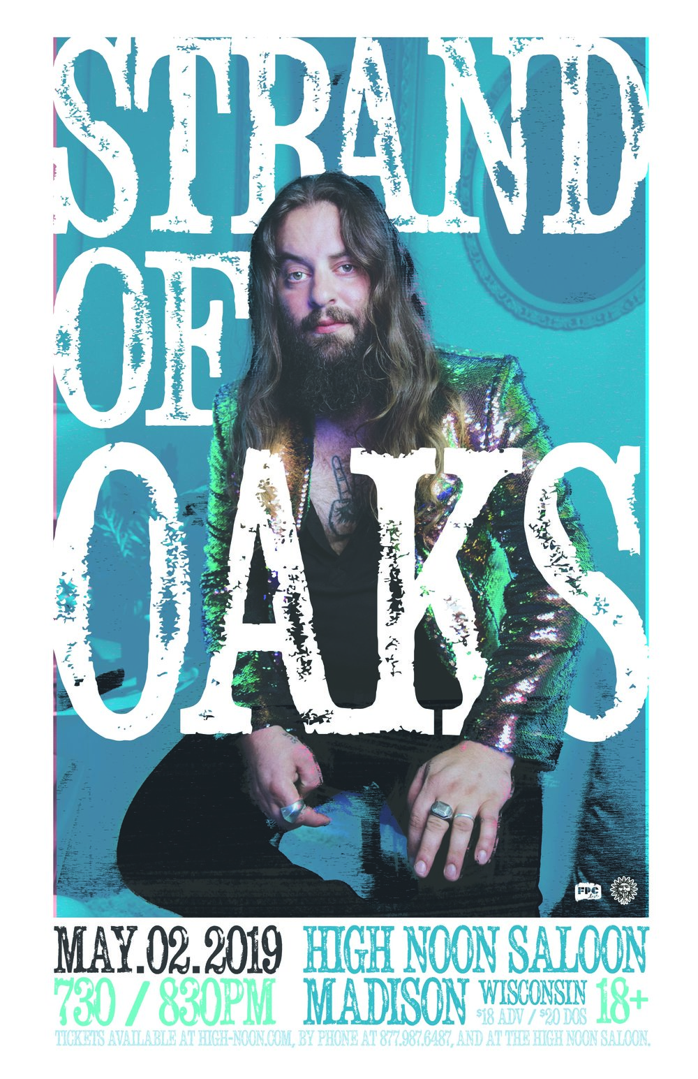 Strand of Oaks poster - Photo credit: Alysse Gafkjen - courtesy of Ground Control Touring
